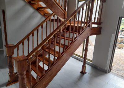 Solid Kiaat Staircase Lodge Zebula Side